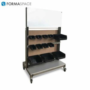 mobile bin cart with steel frame