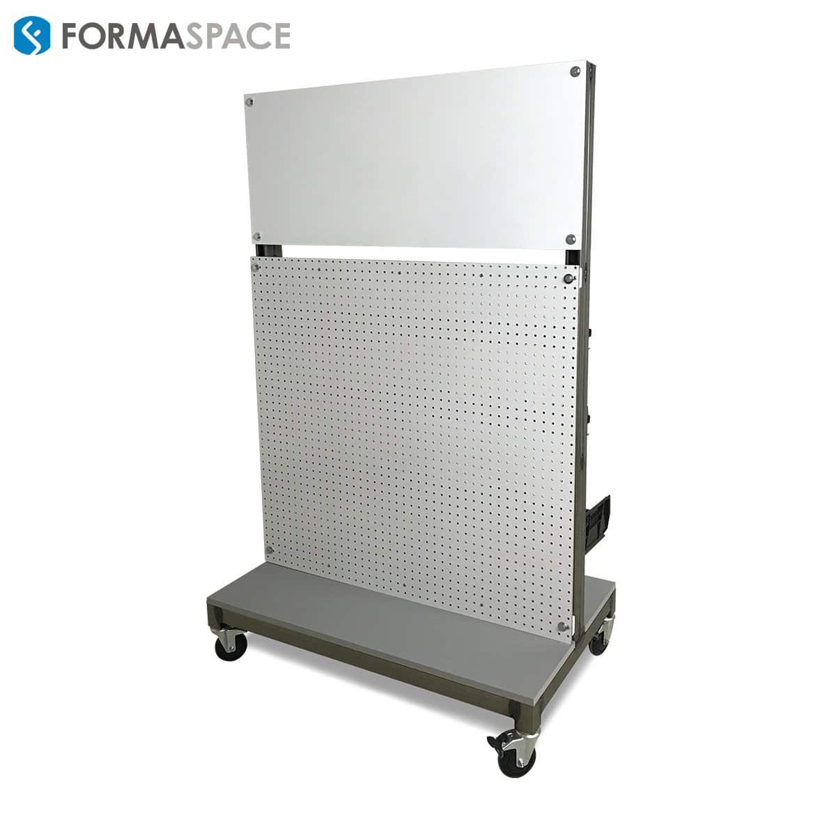 pegboard cart on casters
