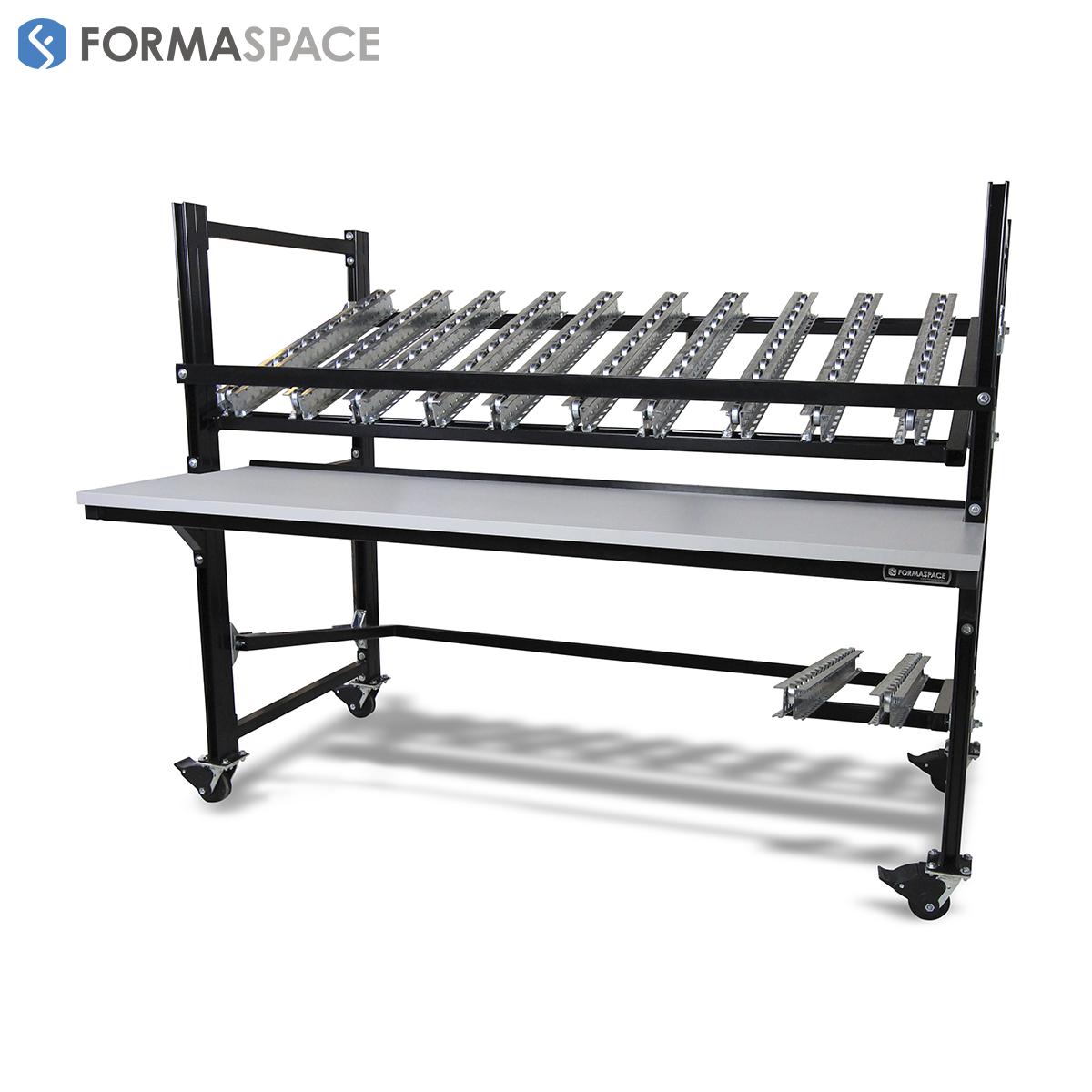 Mobile Flow Rack with Conveyor Rails