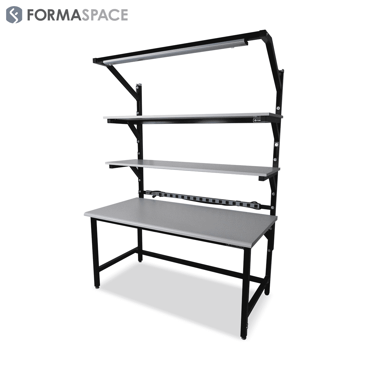 Benchmarx with Gray Laminate & Textured Black Frame