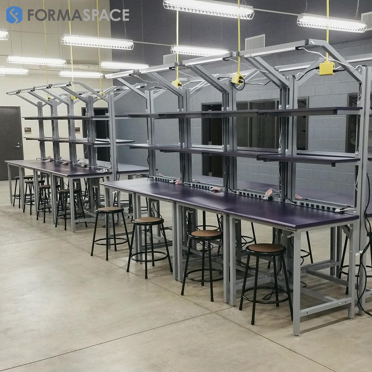 custom laminate work surface in high school