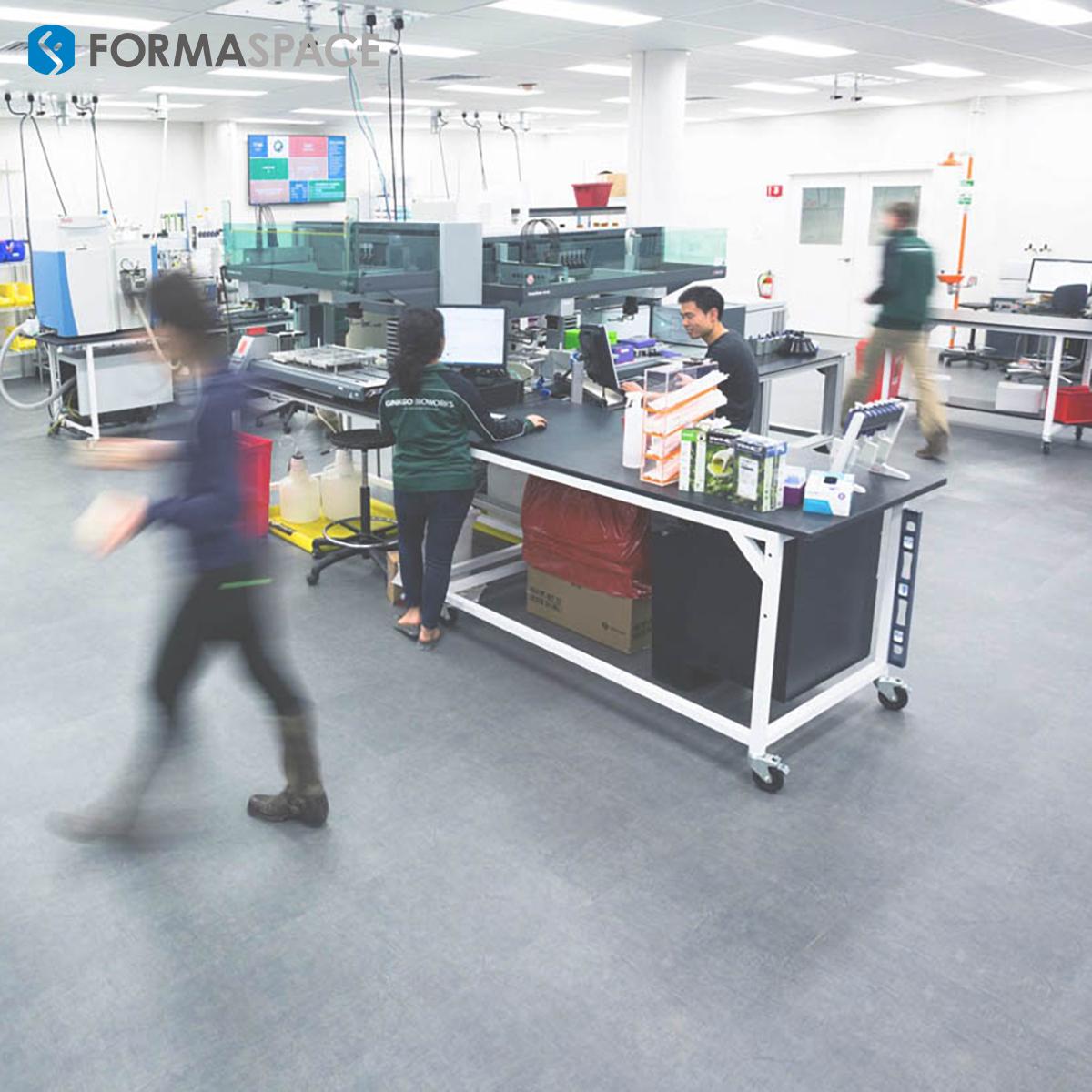 Modified Basix Workbenches in Ginkgo BioWorks Laboratory