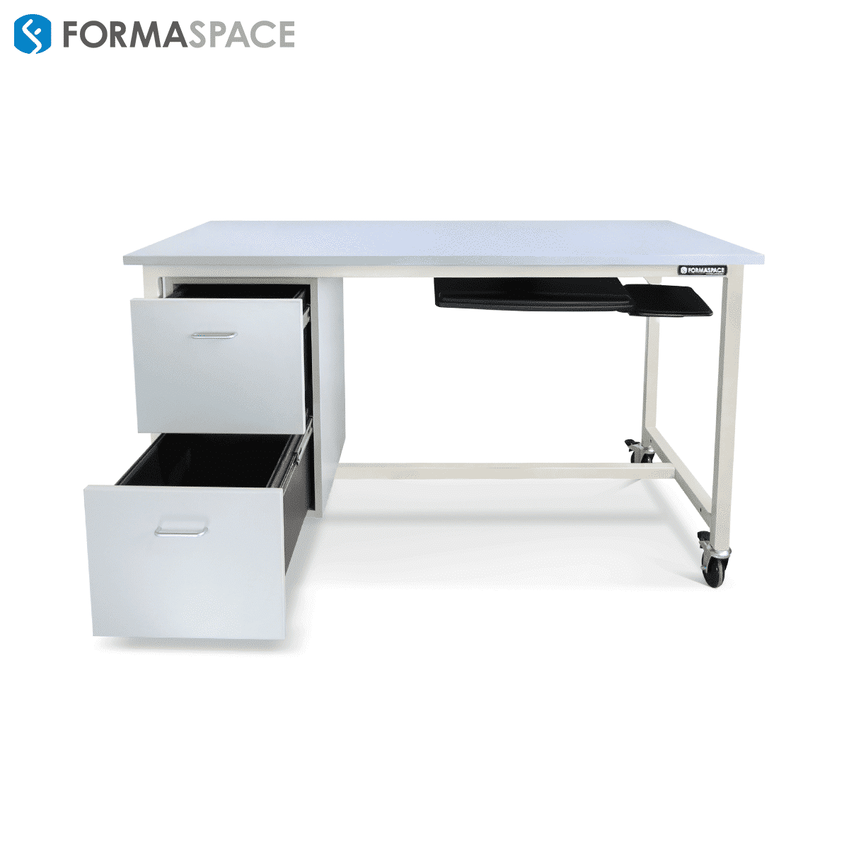 workbench with keyboard pullout