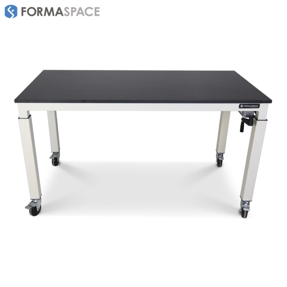 phenolic top height adjustable table