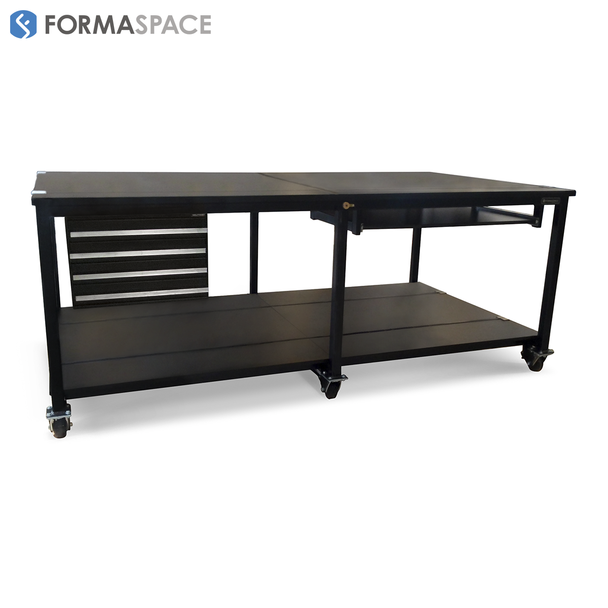 9ft heavy duty workstation with casters