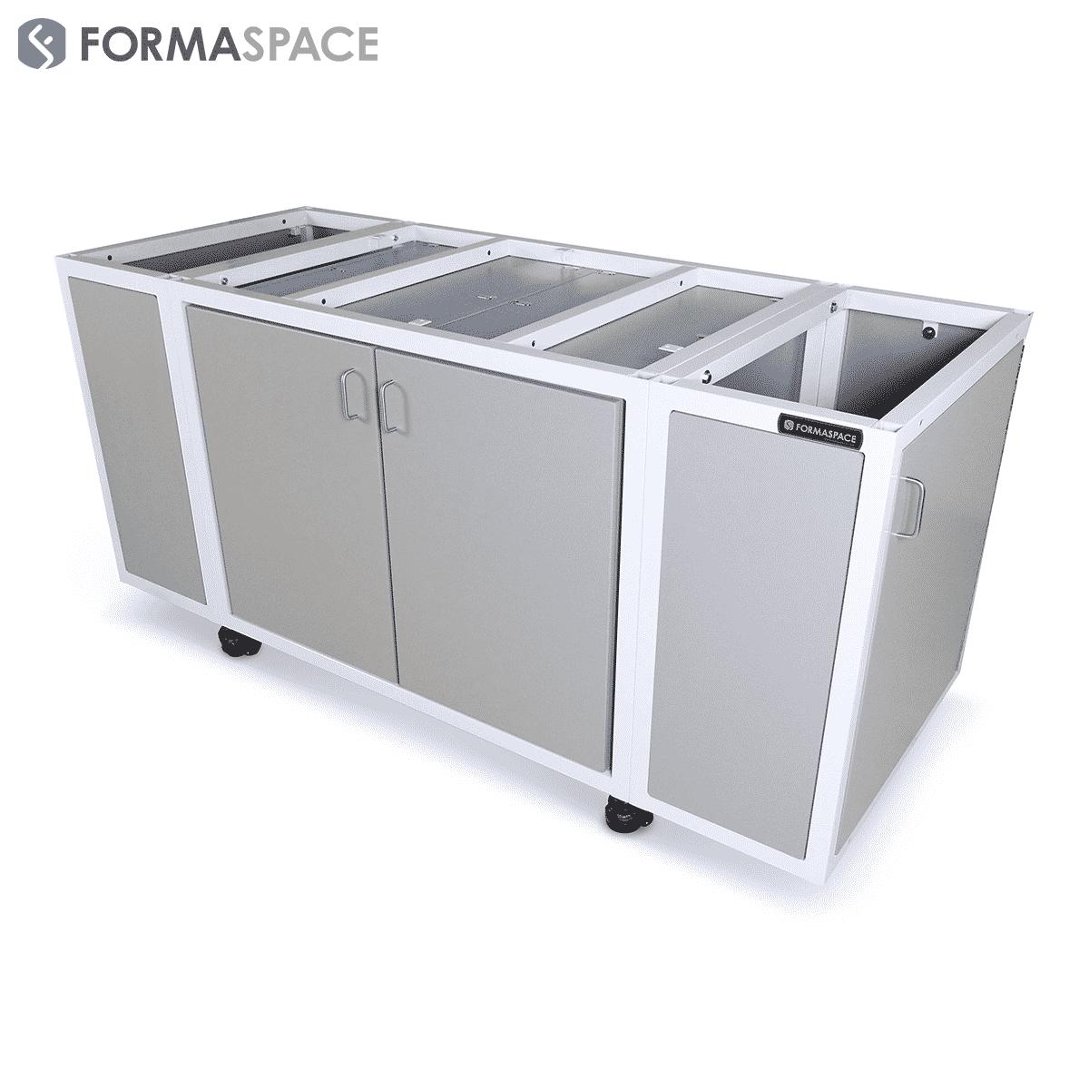 modular mobile cabinetry base