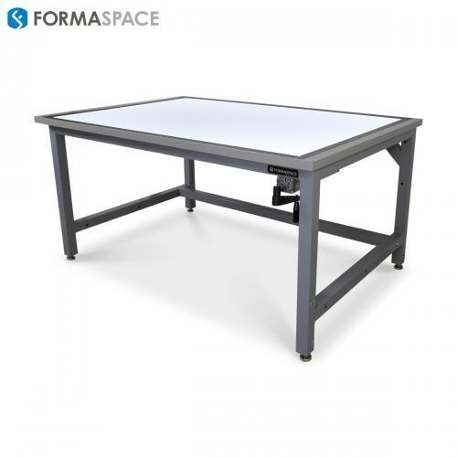 drafting table with backlit surface