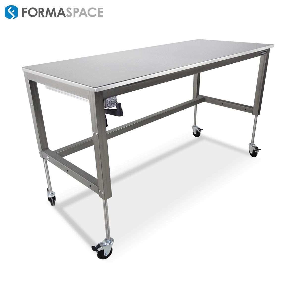 basix lab workbench stainless steel