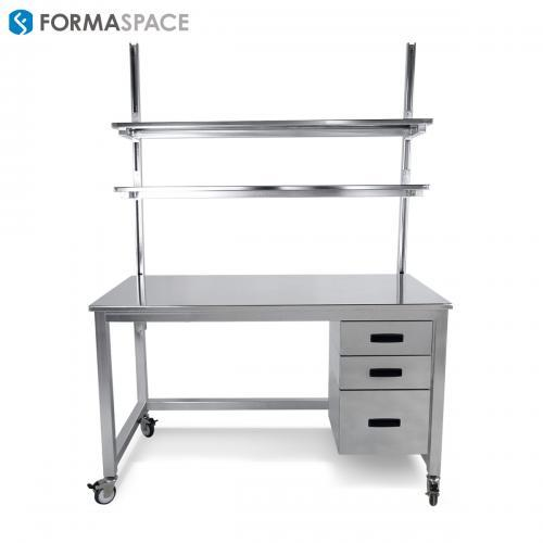 electro-polished stainless steel mobile workstation
