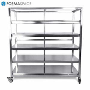 Mobile Stainless Steel Shelf Cart