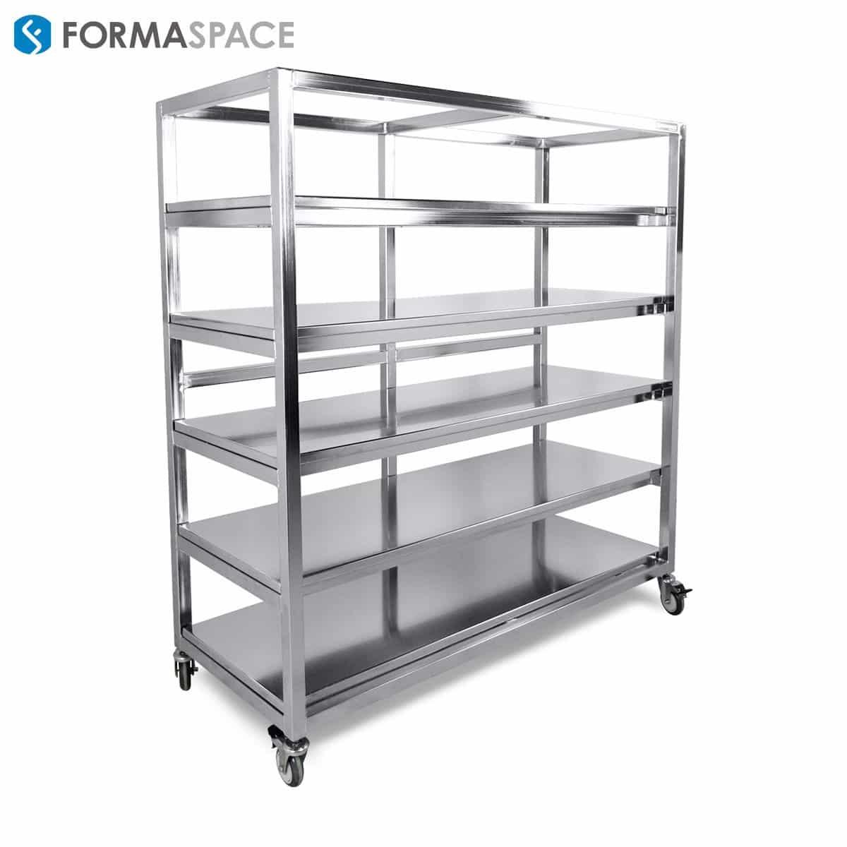 stainless steel storage cart