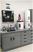 wet lab fume hood biosafety cabinet