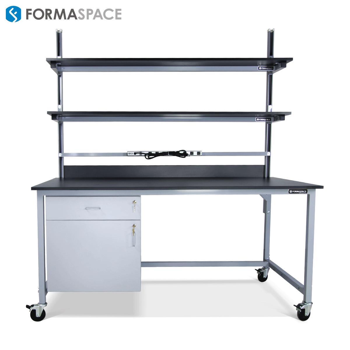 height adjustable lab bench