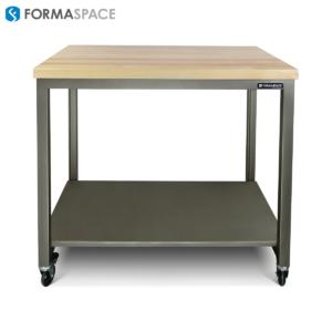 matte clear basix with steel powder coated lower shelf