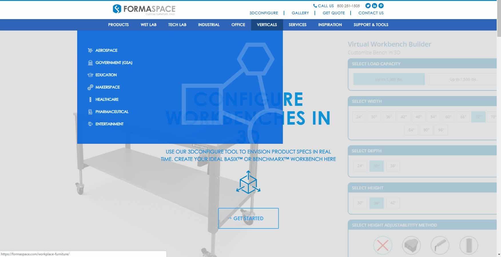 verticals homepage