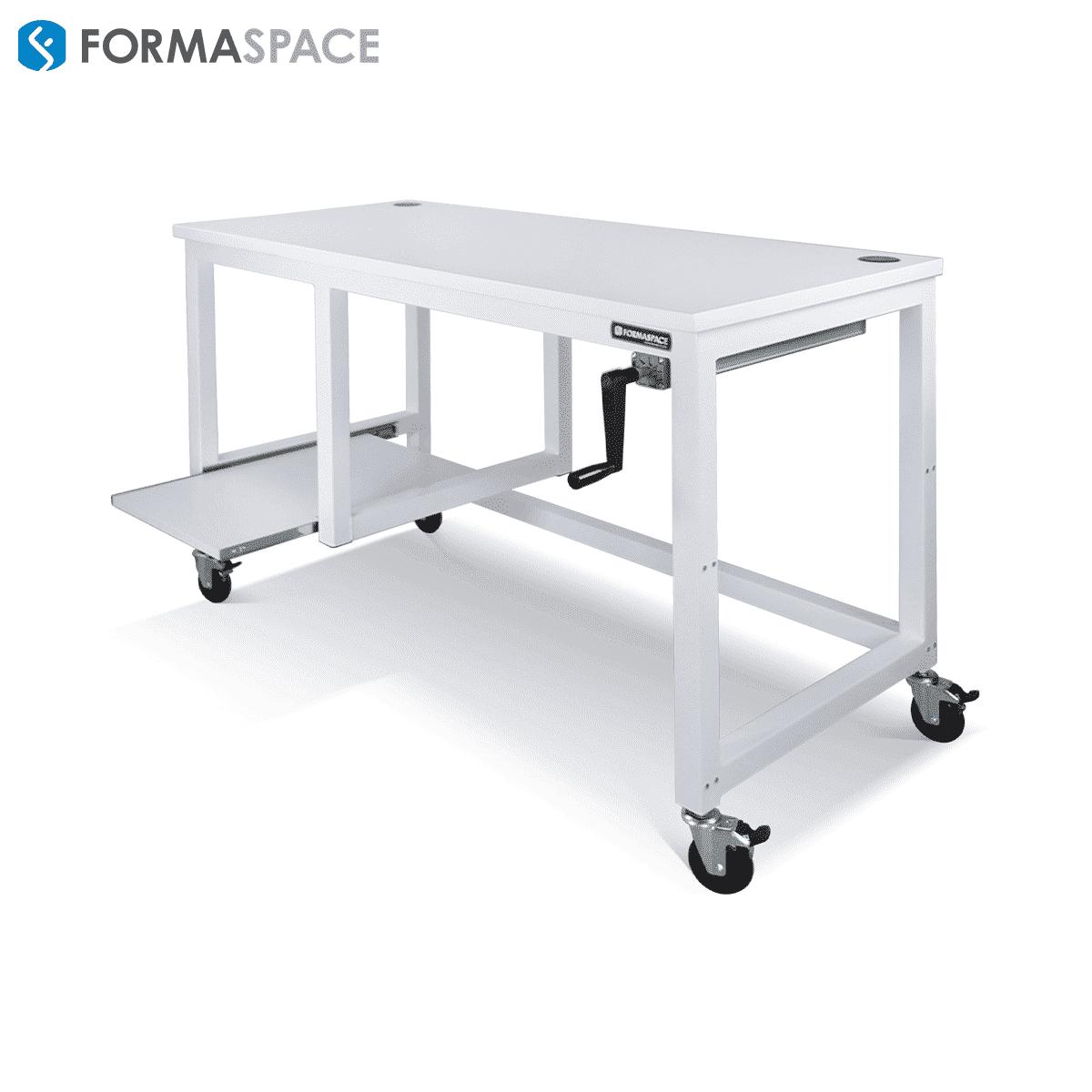 mobile white workbench