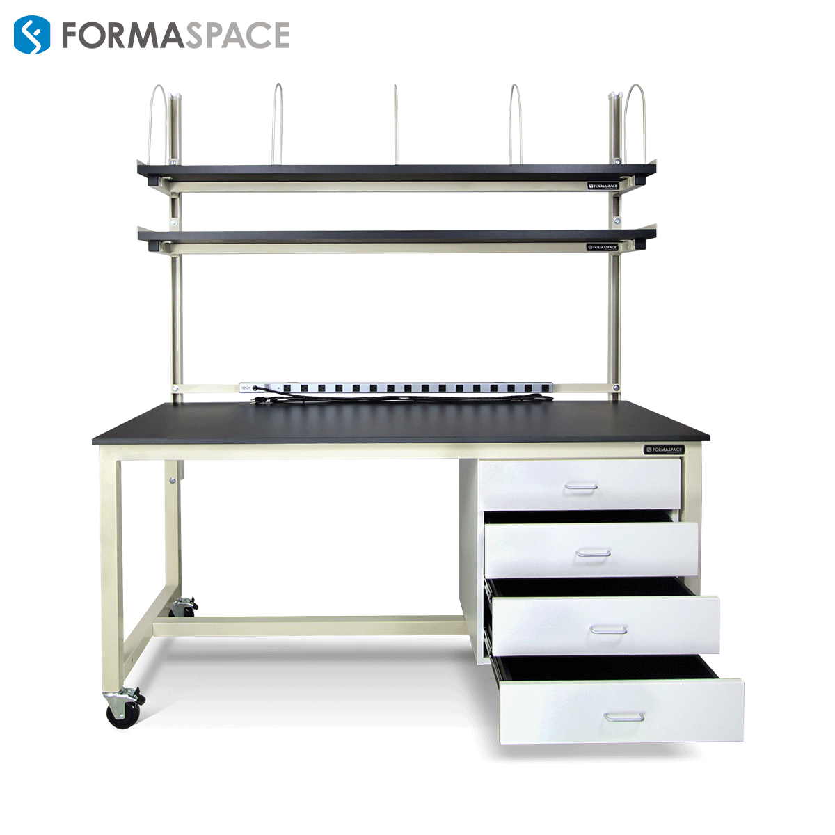 benchmarx with lower storage and almond frame