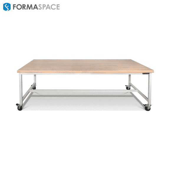 workbench for aerospace research center neutral frame maple top