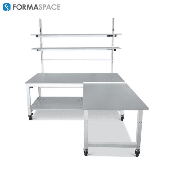height adjustable l workbench