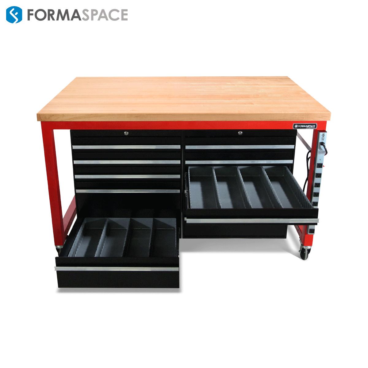 tool storage system with locking drawers