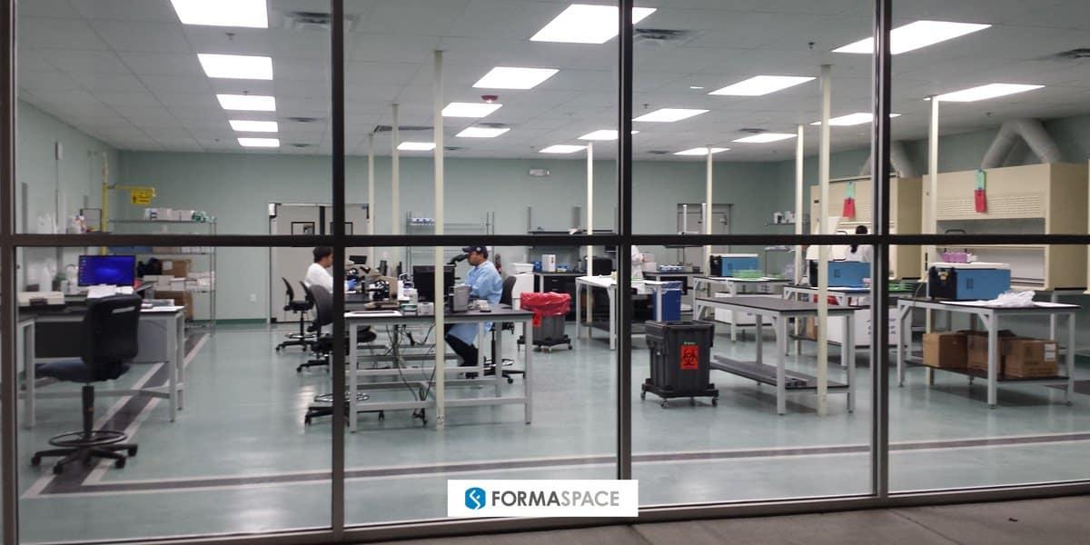 Formaspace veterinary clinic diagnostics lab furniture installation for Antech in Orlando, Florida