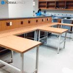 Modular L-Shaped Laboratory Stations