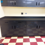 steel casework with chemical resistant phenolic top