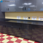 Chemical Resistant Steel Casework with Upper & Lower Storage