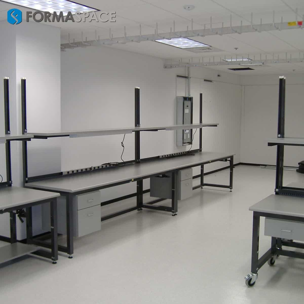 gray esd workbench with drawers