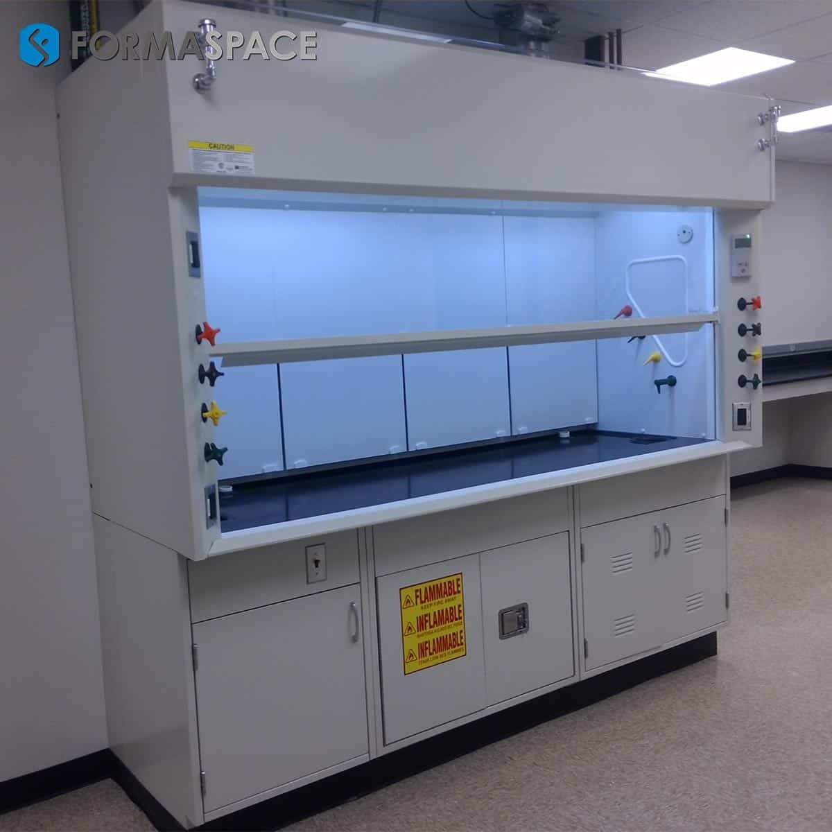 large fume hood at a wet lab