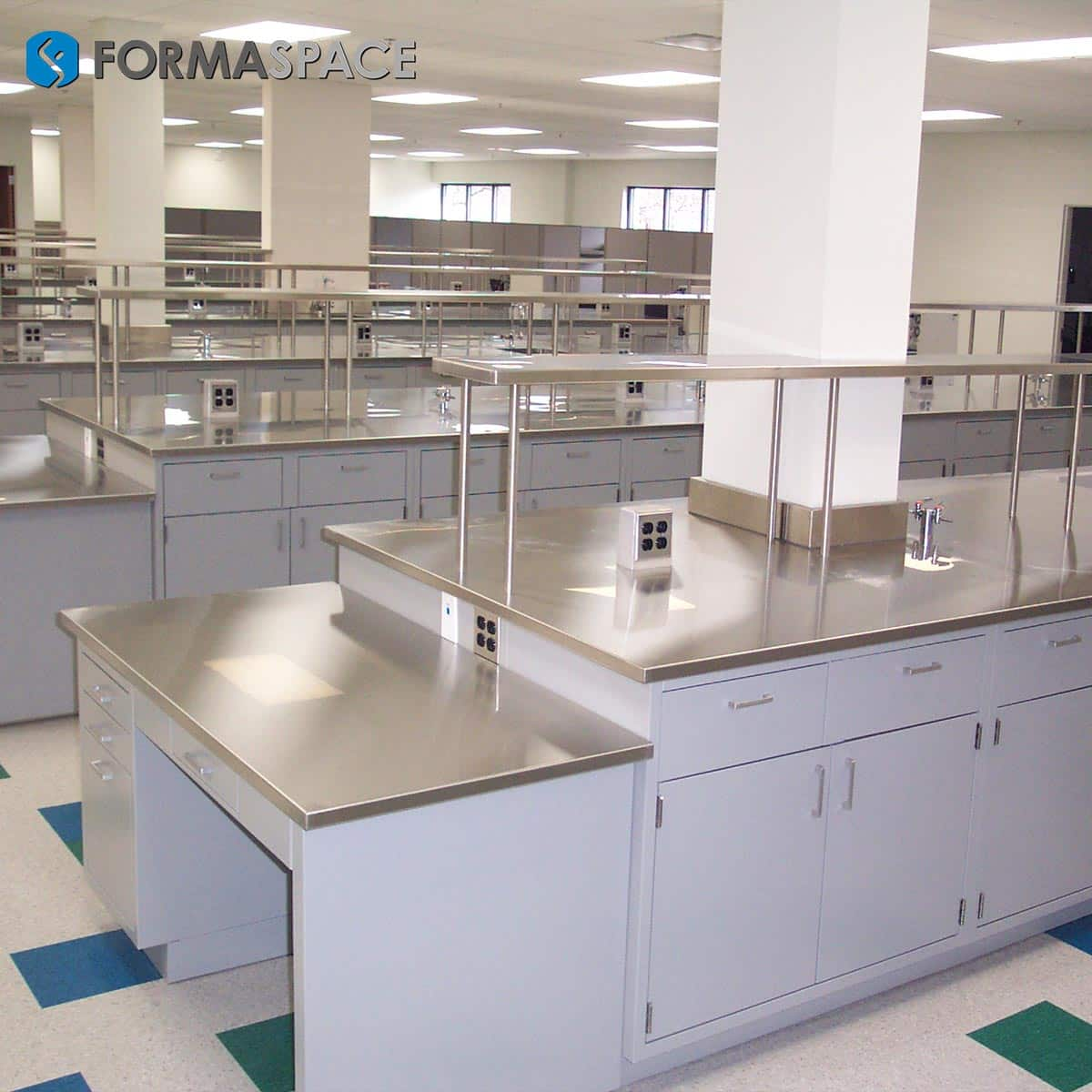 steel casework with stainless steel top