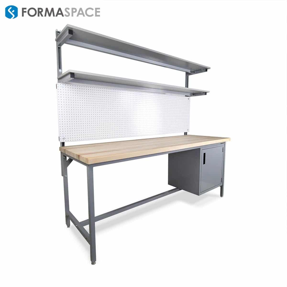 Large Butcher Block Benchmarx with Pegboard