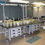 Height Adjustable Phenolic Laboratory Workbench