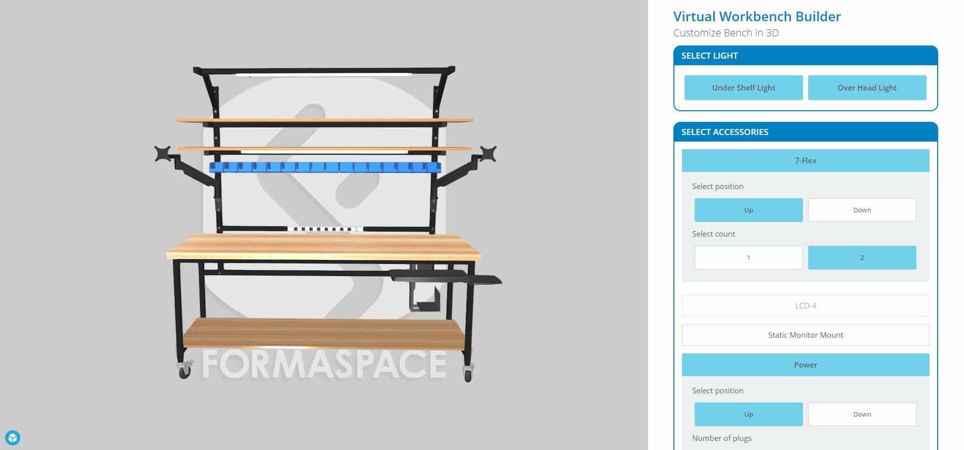 virtual work bench builder 3D