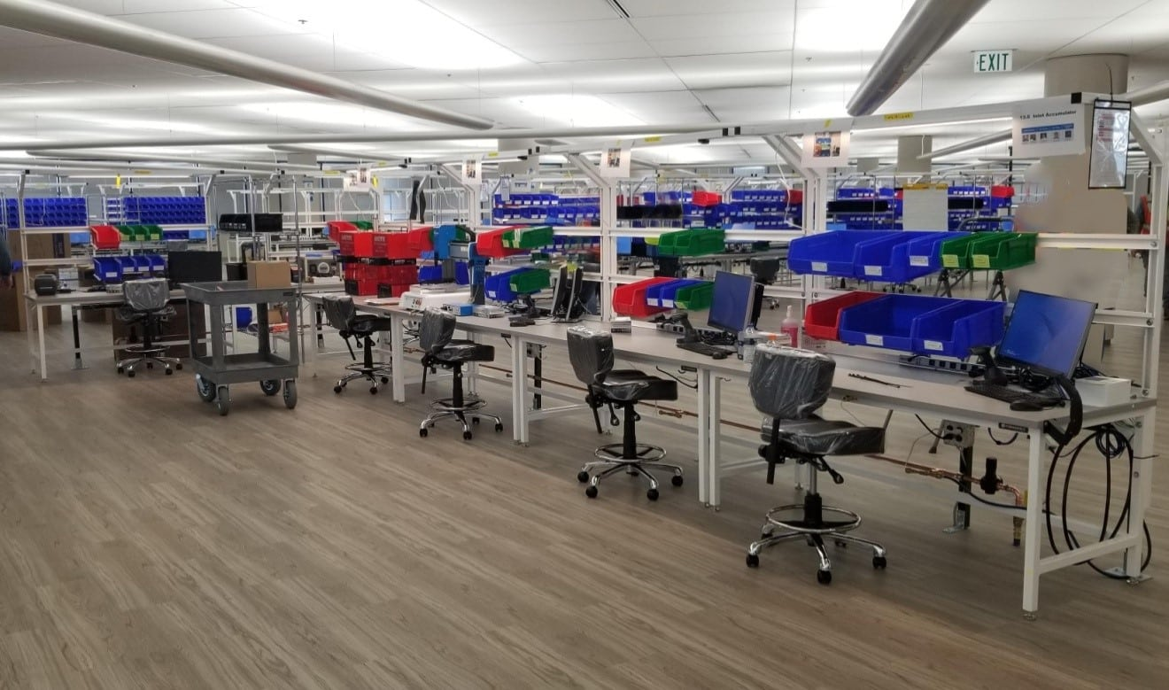 esd workbenches general motors manufacturing facility