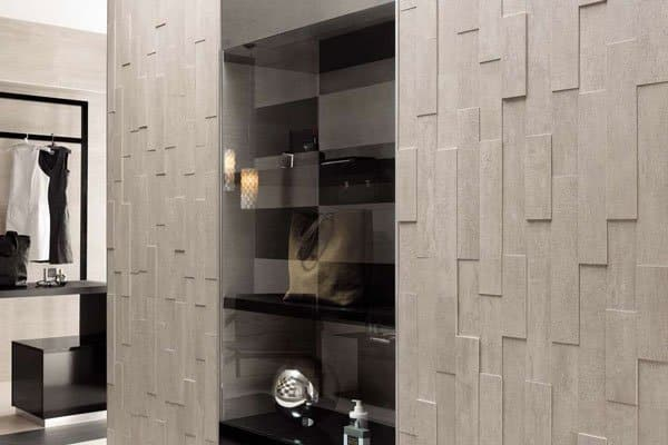 The new 'Mark' line of tile from Atlas Concorde creates a subtle three dimensional effect of light and shadow.