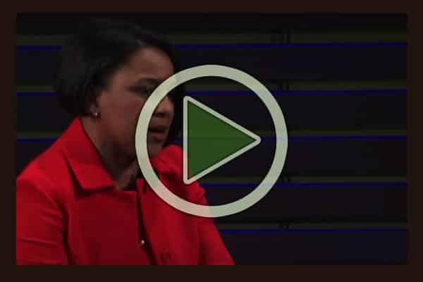 Rosalind Brewer, CEO of Sam's Club speaks at the Women in the World conference.