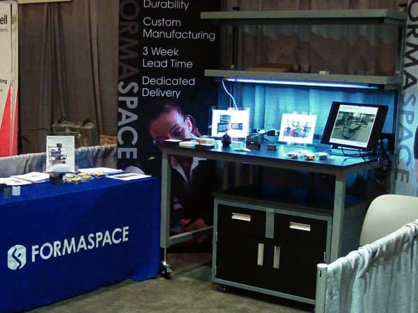 Customers were very interested in the newest workbench designs Formaspace had on display at the Gulf Coast Conference.
