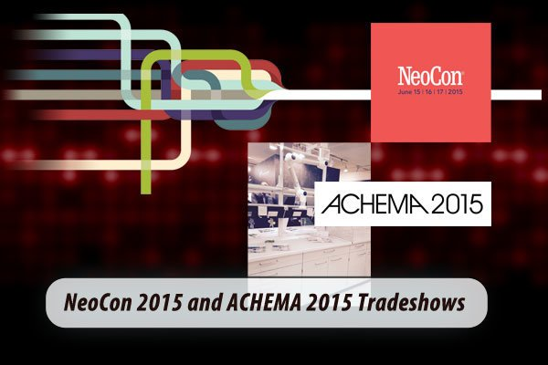 Lot's of travel this past week. Greg Casey (VP of Engineering and Design) and Aaron Stoneburner (Lead Design) attended Neocon 2015, the contract furniture exposition in Chicago. Chris Andrews, VP of Sales and Marketing was in Frankfurt Germany at ACHEMA 2015, the largest lab equipment and process engineering show in the world.