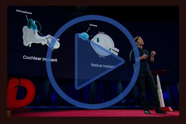 """You may recognize David Eagleman from his six part PBS series """"The Brain"""". At TED Eagleman demonstrates a vibrating vest, which can help deaf people interpret sound."""