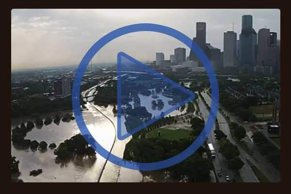 Bryan Rumbaugh captured this footage of Flooding along Buffalo Bayou in downtown Houston. Video opens in new window.